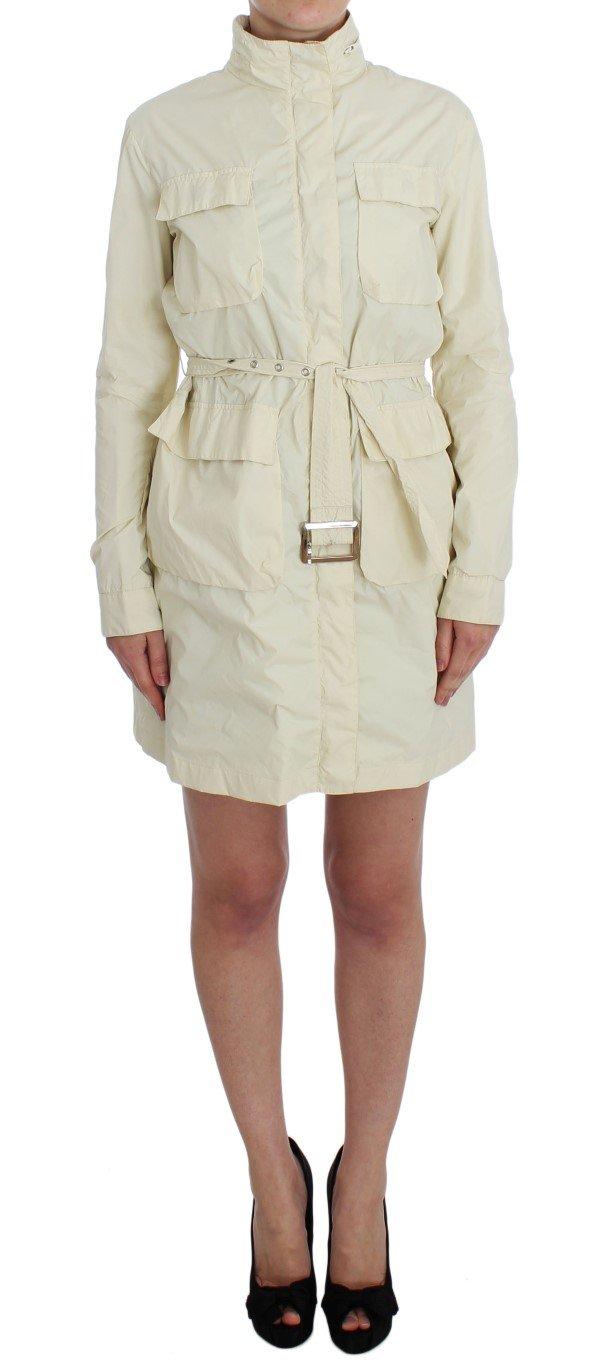 Beige Weather Proof Trench Jacket Coat - S