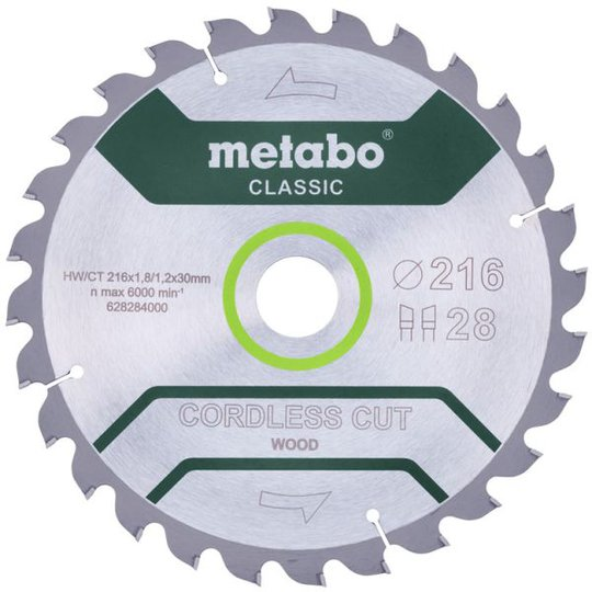 Metabo 628284000 Sahanterä 216x30 mm, 28T