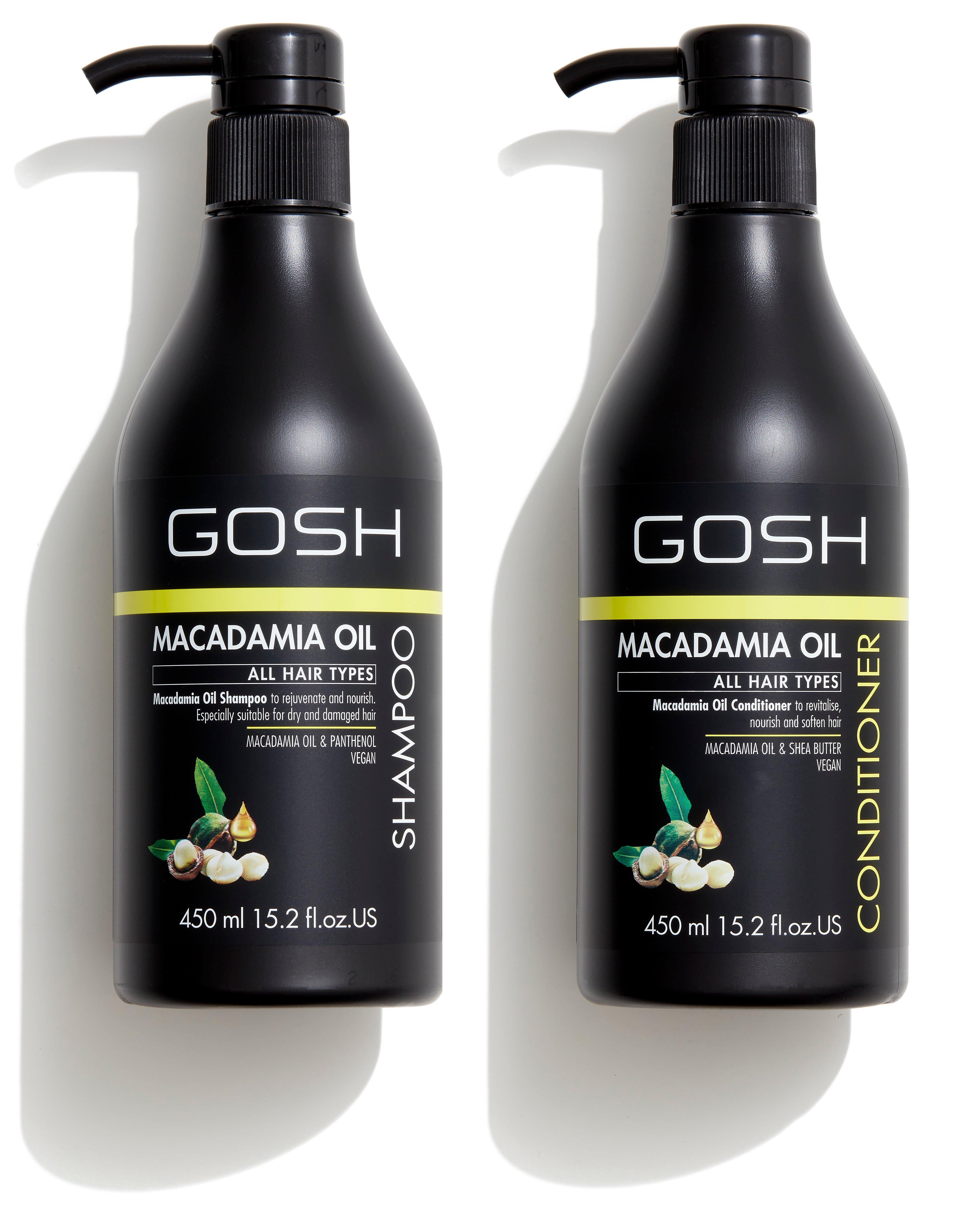 GOSH - Macadamia Oil Shampoo 450 ml + Macadamia Oil Conditioner 450 ml