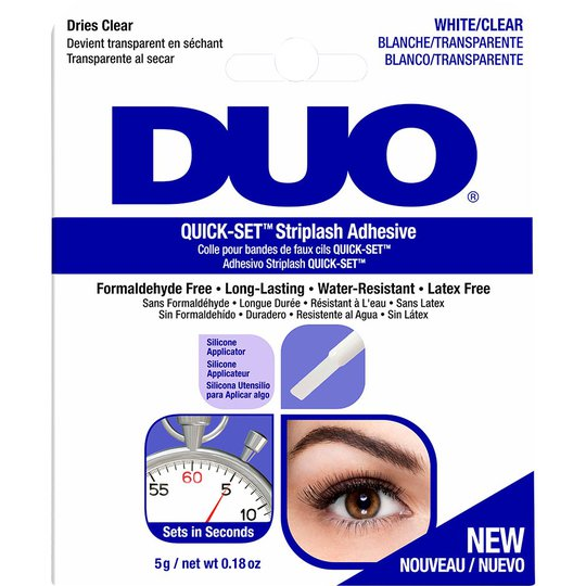 DUO Quick-set Brush-on Adhesive Clear, 5 g Andrea Irtoripset