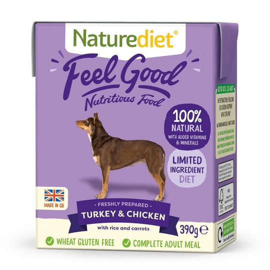 Naturediet Feel Good Kalkon & Kyckling (390 g)