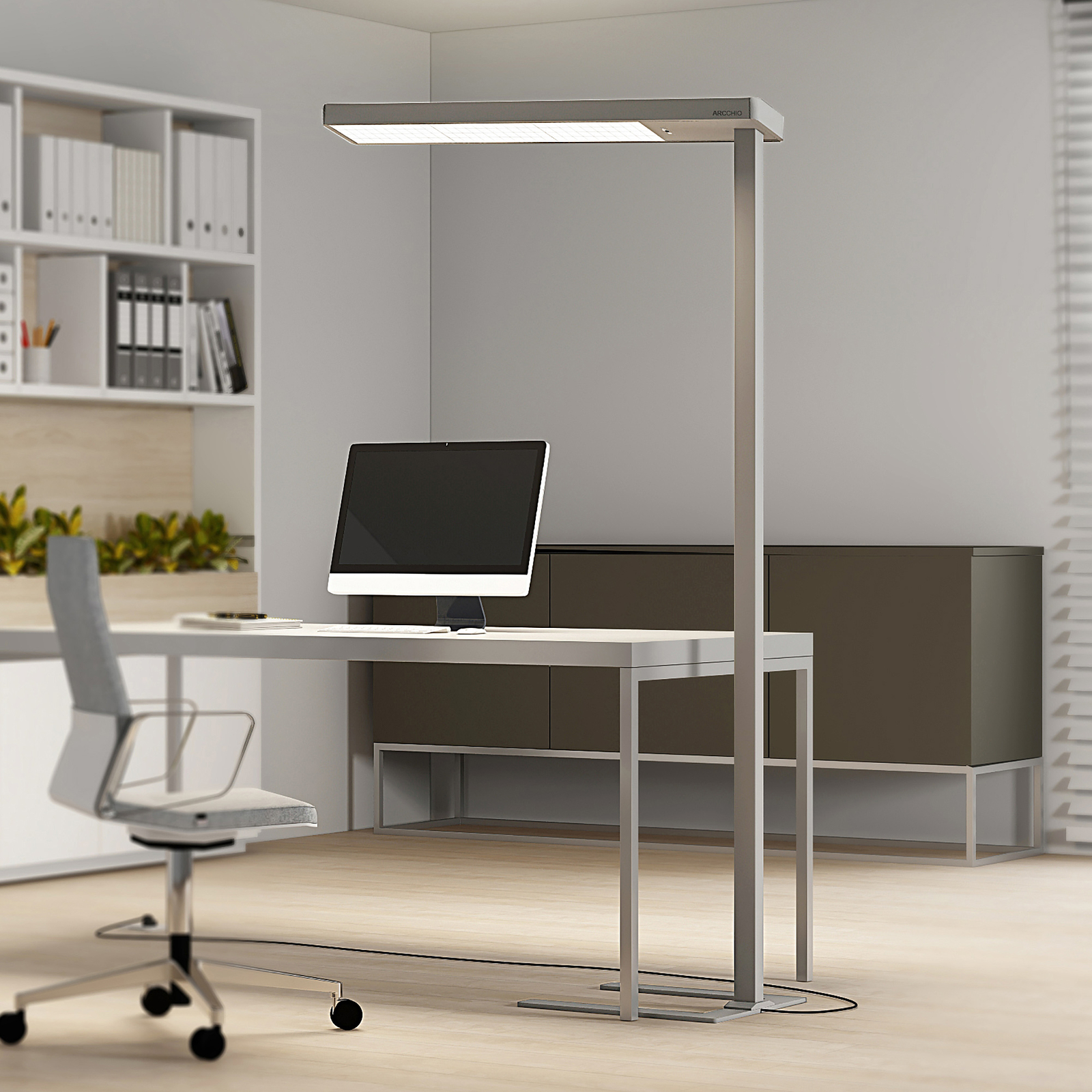 Arcchio Bilano-LED-lattiavalo päivänvaloanturi CCT