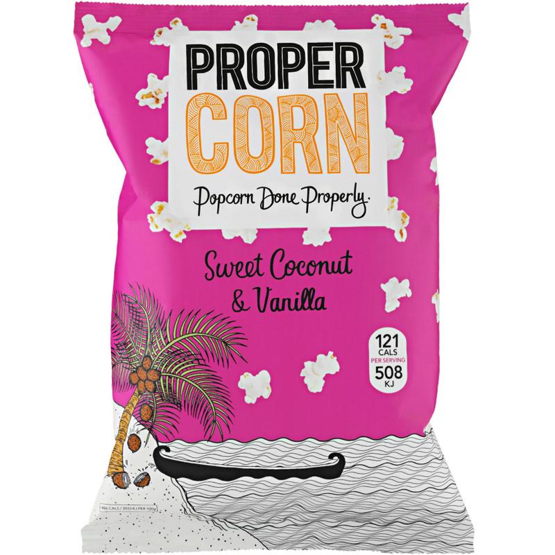 Kokosnöt & Vaniljpopcorn 90g - 92% rabatt
