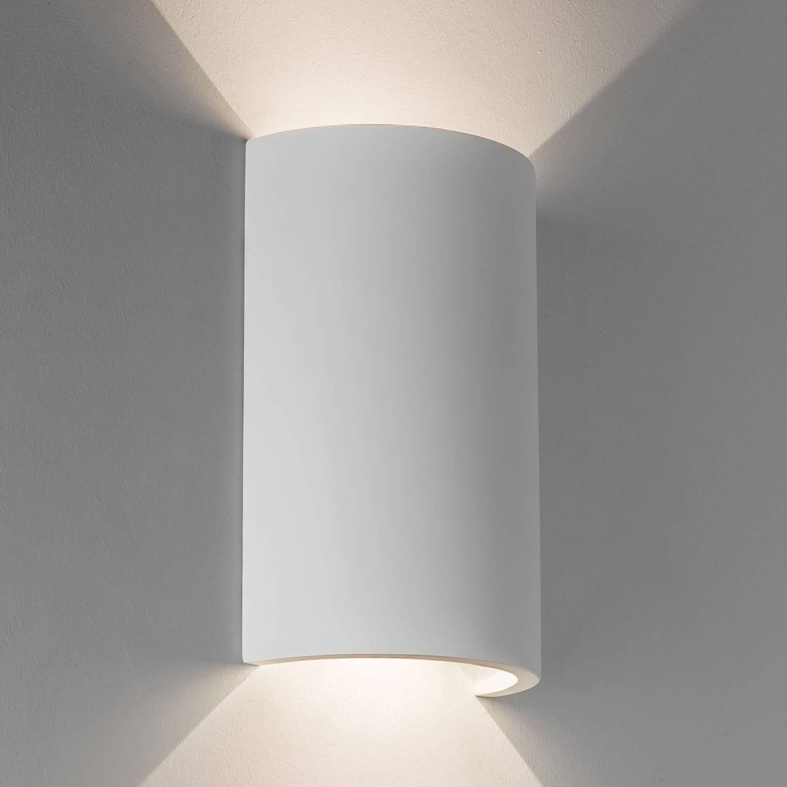 Maalattava LED-seinävalaisin Serifos 170 kipsistä