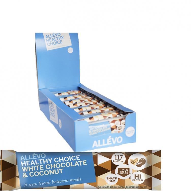Välipalapatukoita White Chocolate & Coconut 24kpl - 72% alennus