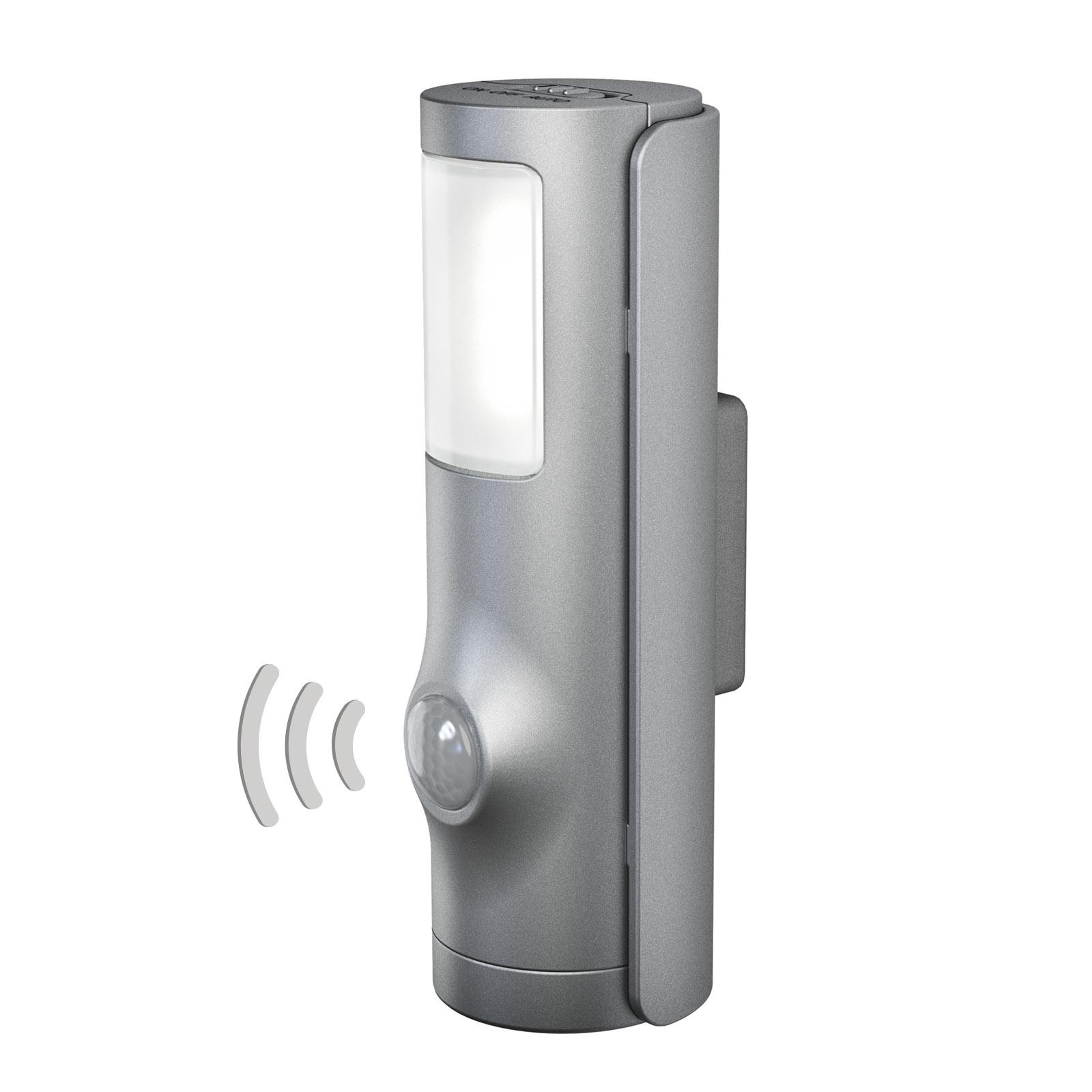 LEDVANCE Nightlux Torch LED-yövalo hopea