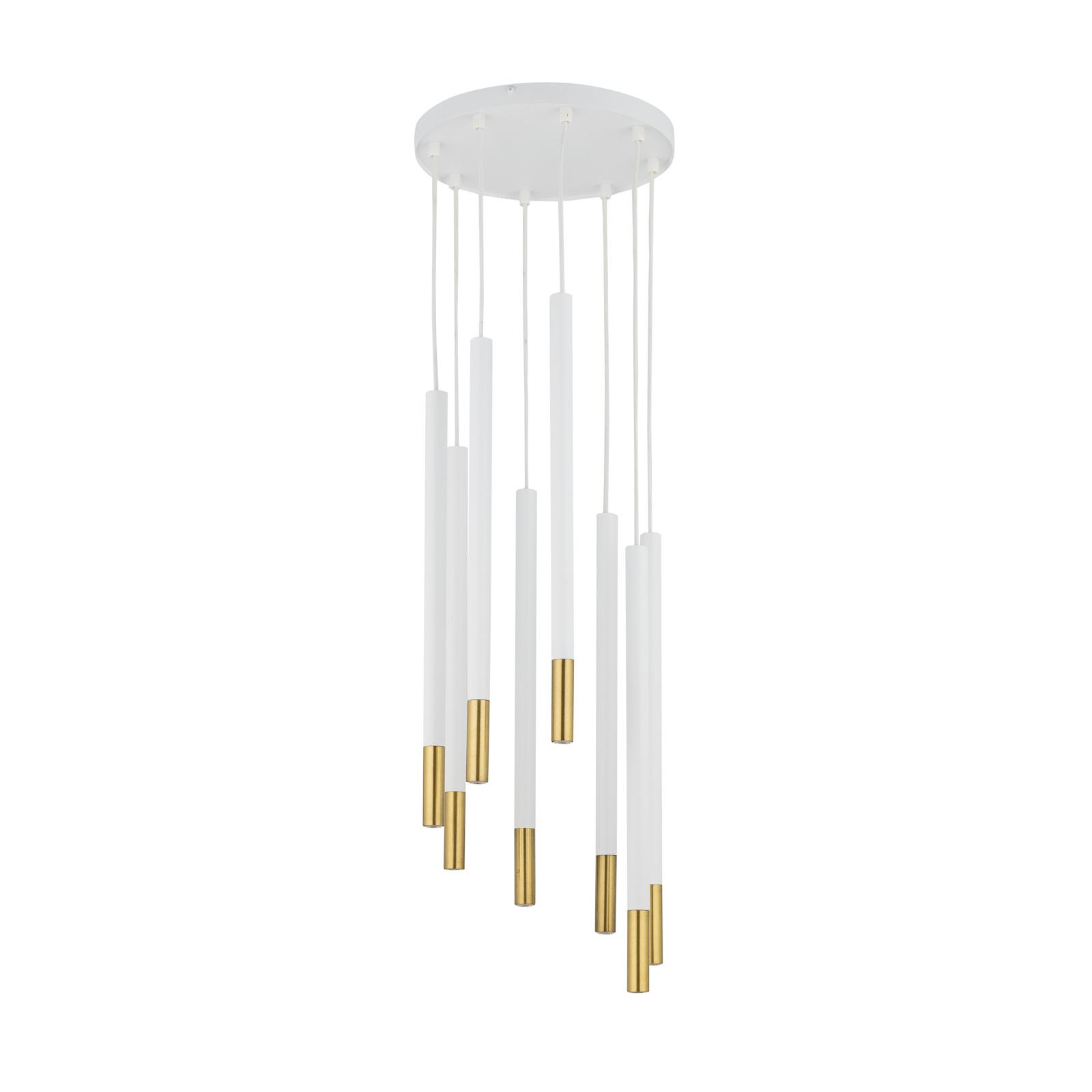 Riippuvalaisin Sopel Due 8 valkoinen/kulta, 8-lamp