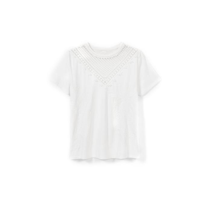 Desigual Women's T-Shirt White 173306 - white XS