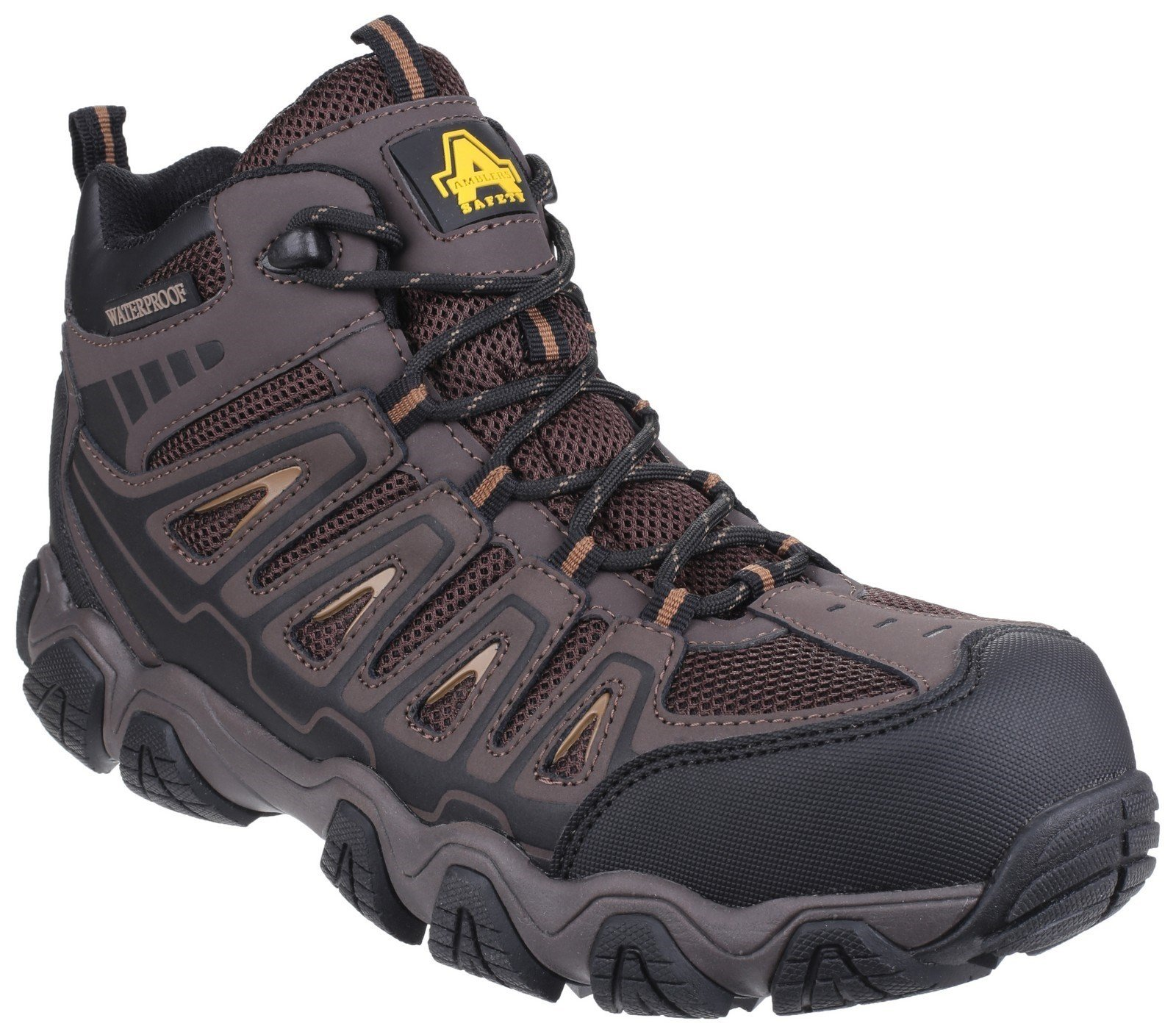 Amblers Unisex Safety Waterproof Non-Metal Hiker Boot Brown 24341 - Brown 9