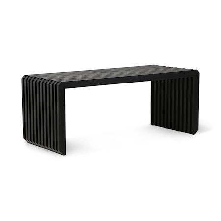 slatted Bench/Element Black