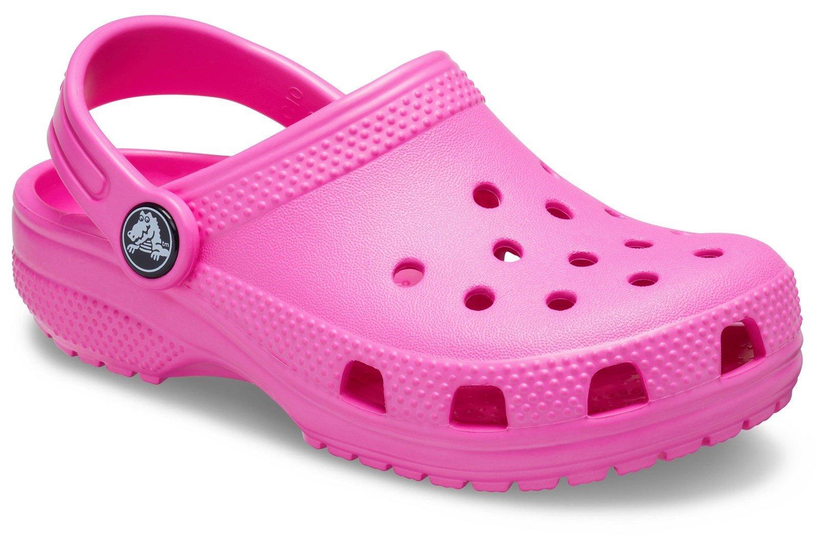 Crocs Kid's Classic Slip On Clog Sandal Various Colours 31493 - Electric Pink 4