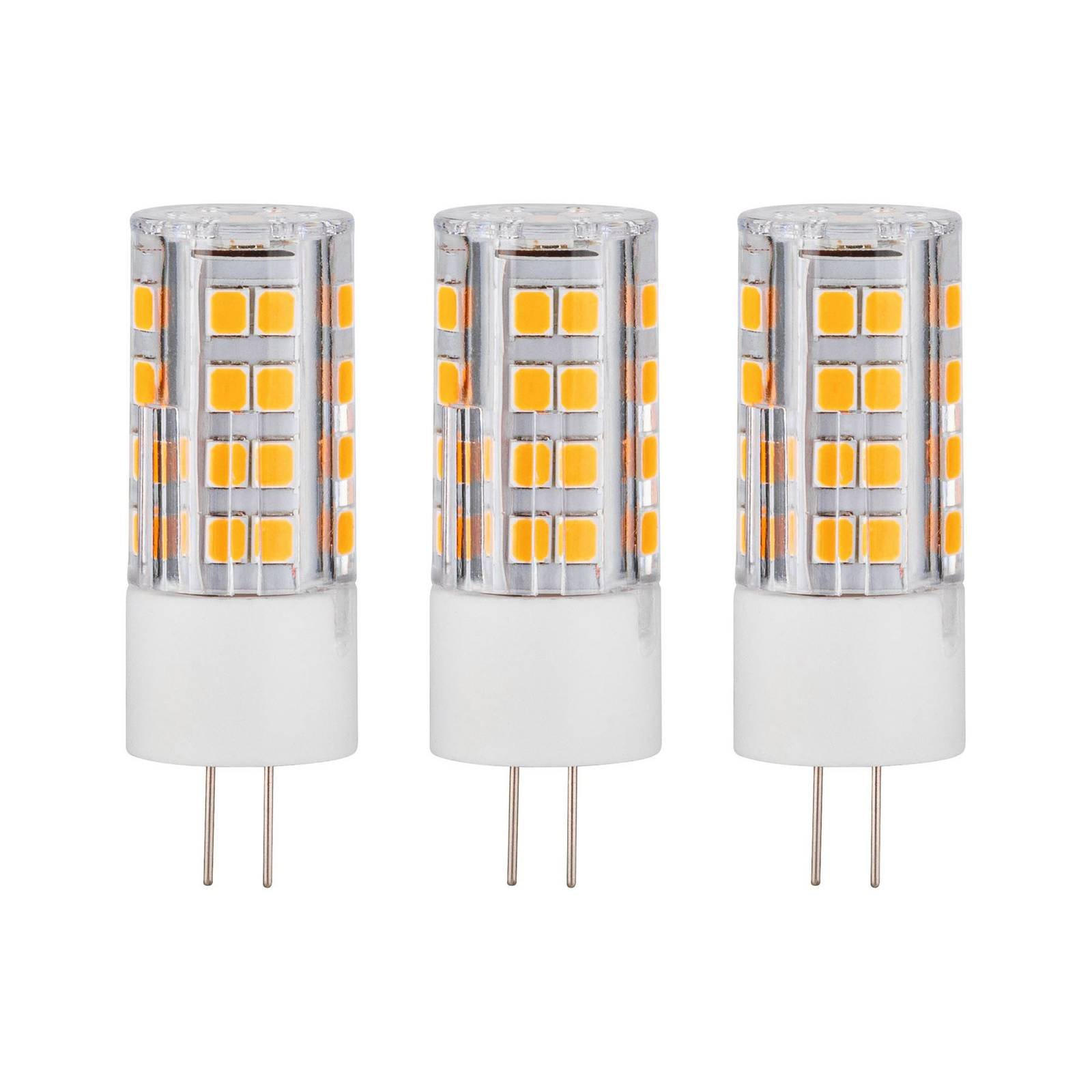 Paulmann 2-kantainen LED-lamppu G4 3W 2700K 3 kpl