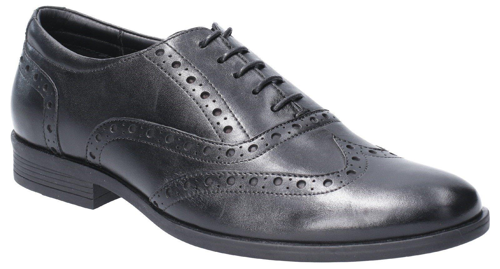 Hush Puppies Men's Oaken Brogue Shoe Various Colours 29188 - Black 6