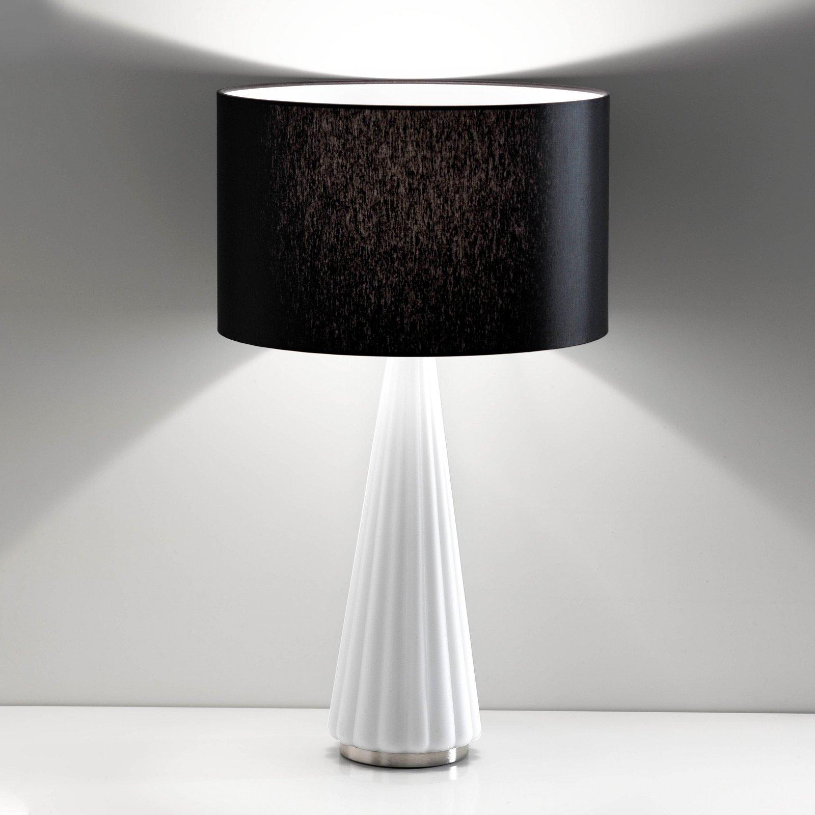 Bordlampe Costa Rica, skjerm svart, fot hvit
