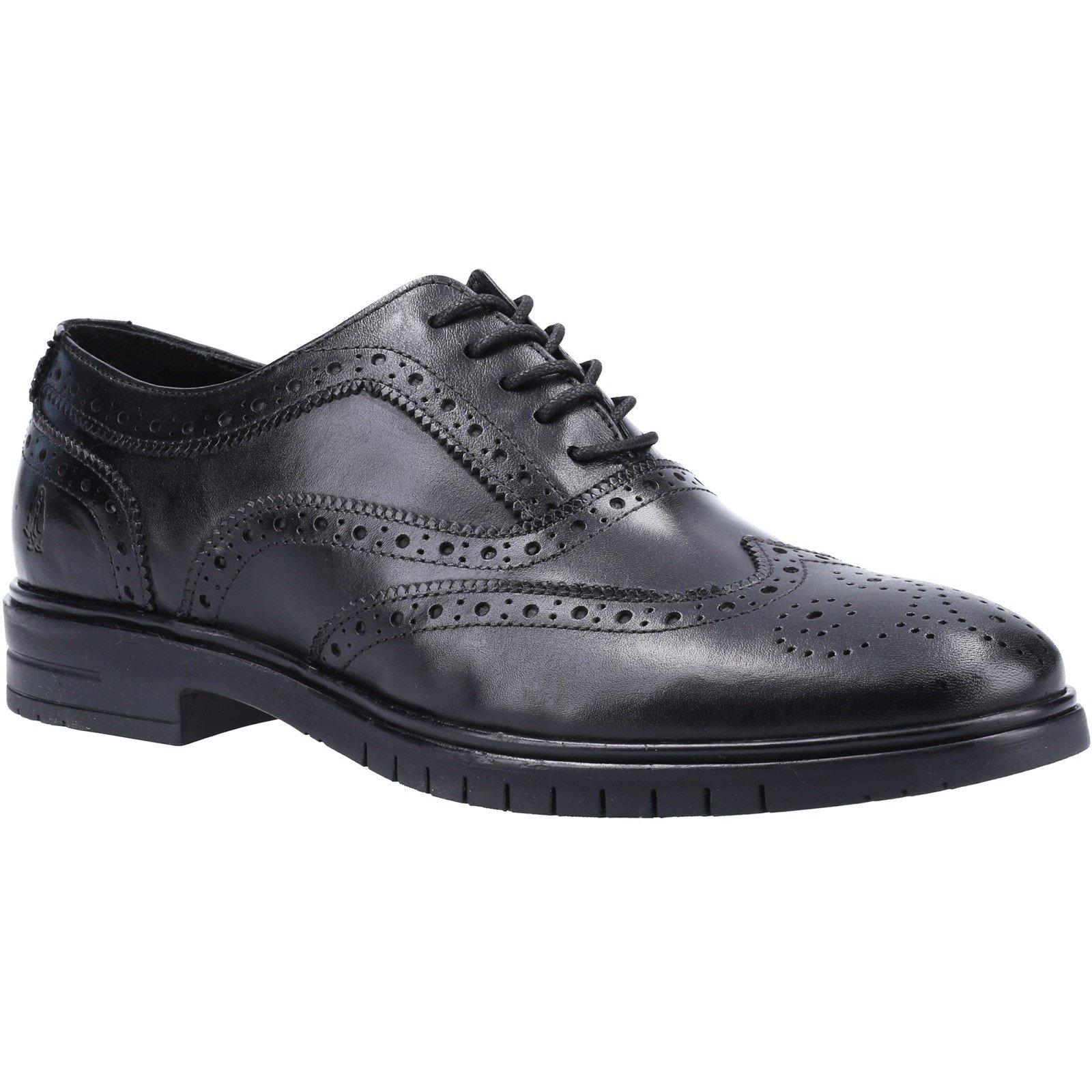 Hush Puppies Men's Santiago Lace Brogue Shoe Black 31989 - Black 10