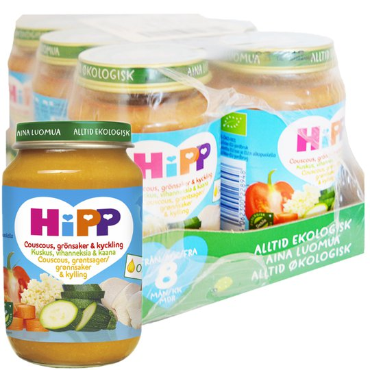 Hel Låda Barnmat Grönsaker & Kyckling 6 x 190g - 40% rabatt