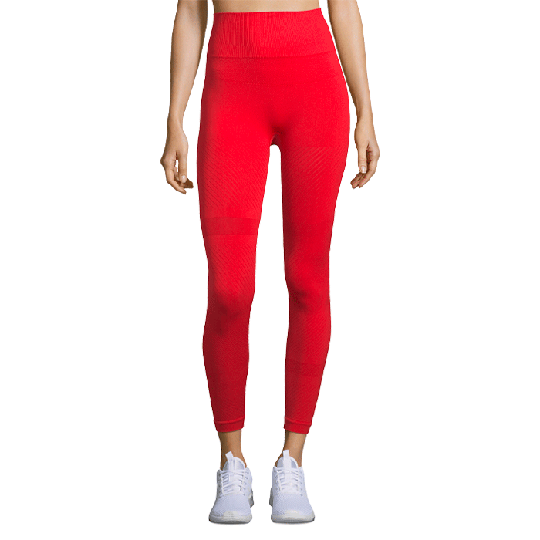 Seamless Blocked Tights, Impact Red