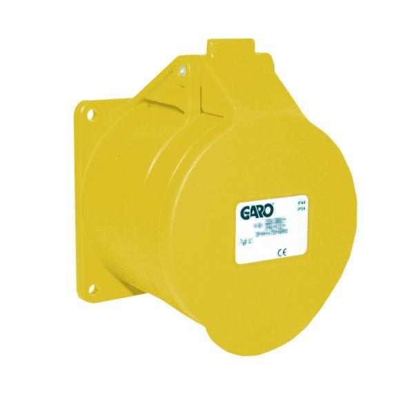 Garo UI 416-4 S Paneelin ulostulo IP44, 5-napainen, 16A Keltainen, 4 h