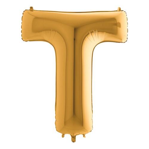 Bokstavsballong Guld - Bokstav T