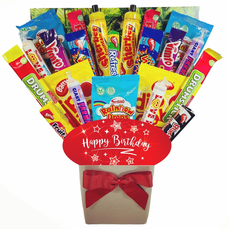 The Happy Birthday XL Retro Sweets Bouquet