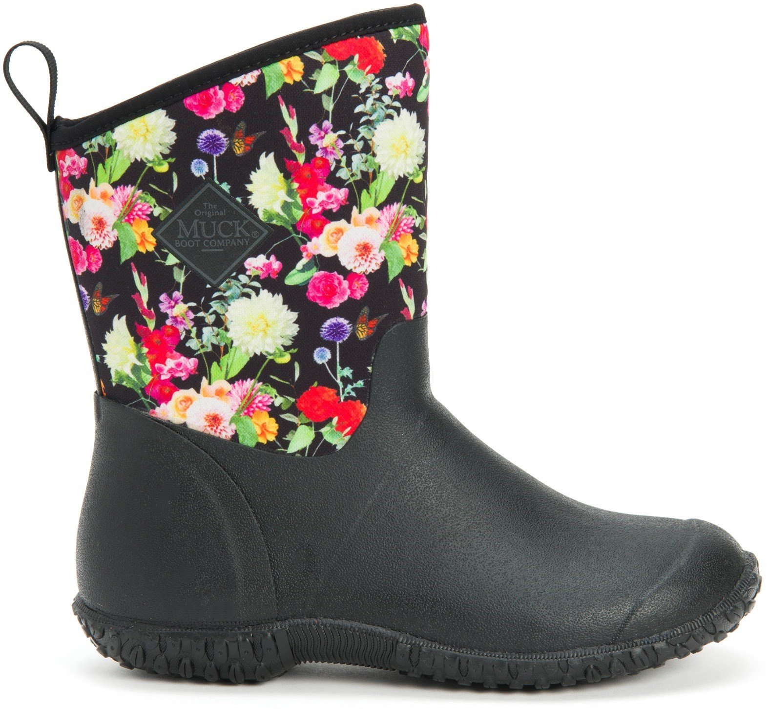Muck Boots Unisex Muckster II Slip On Short Boot Various Colours 28899 - Night Floral 3