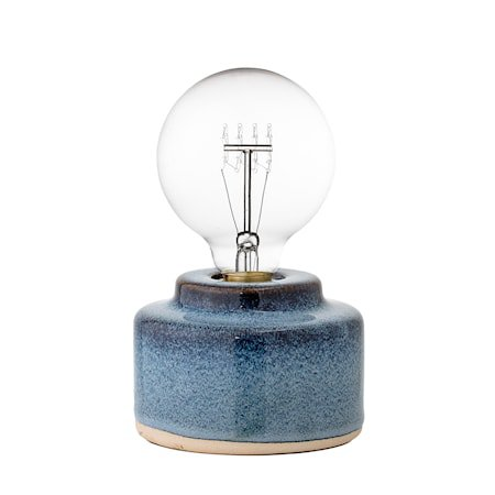 Bordlampe Blå Porselen 12x9cm