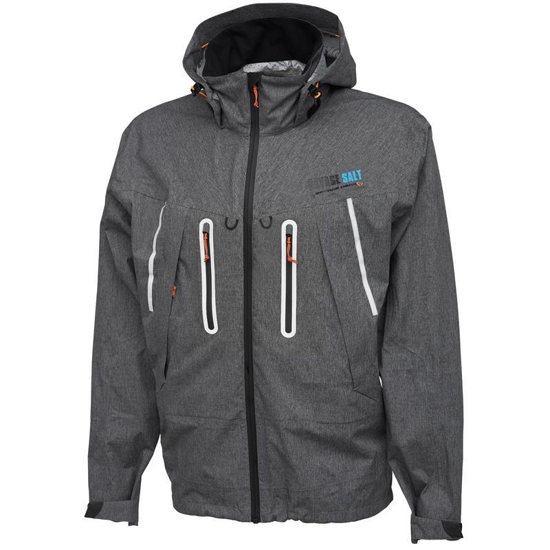 Savage Gear SALT Pack-Lite jakke XL Ultralett jakke med pakksekk - Grey