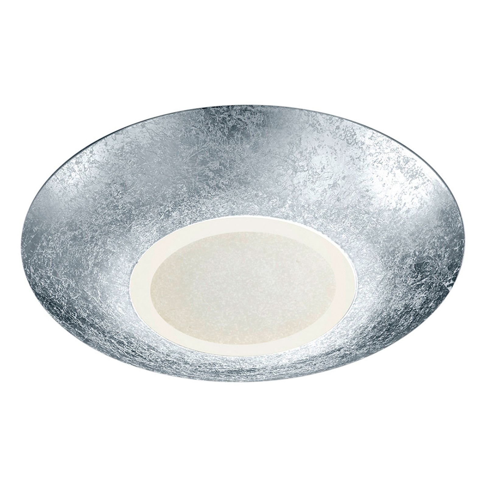 Sølvfarget LED-taklampe Chiros rund