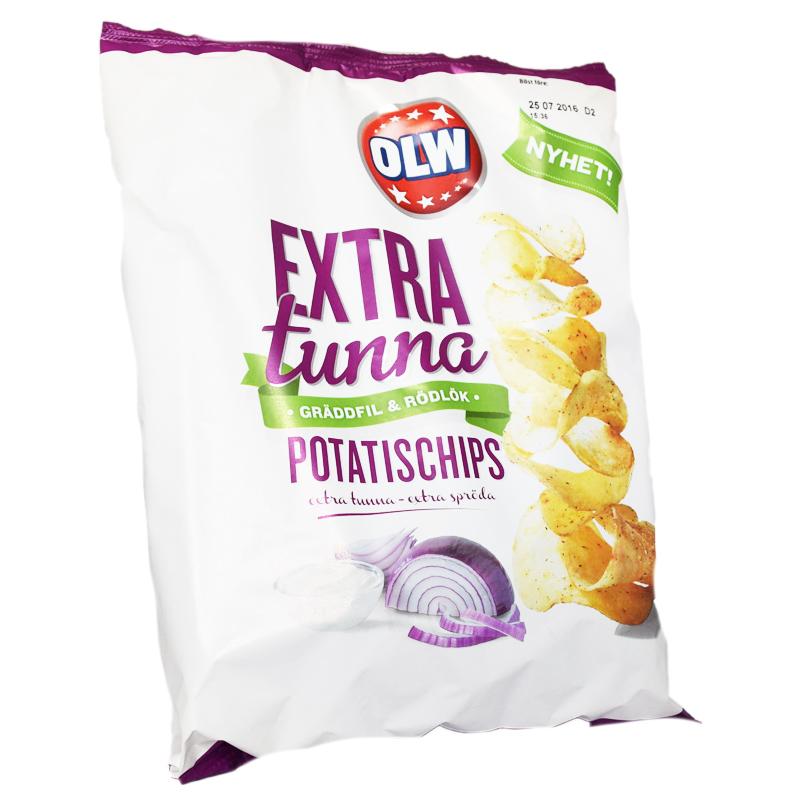 """Chips """"Extra Tunna"""" Gräddfil & Lök - 63% rabatt"""