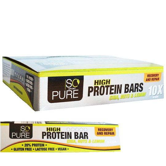 "Hel Låda Proteinbars ""Chia Nuts & Lemon"" 10 x 40g - 65% rabatt"