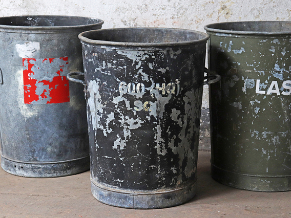 Old Metal Bin Large