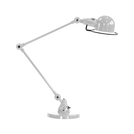 Jieldé Signal SI333 bordlampe med fot, sølvgrå