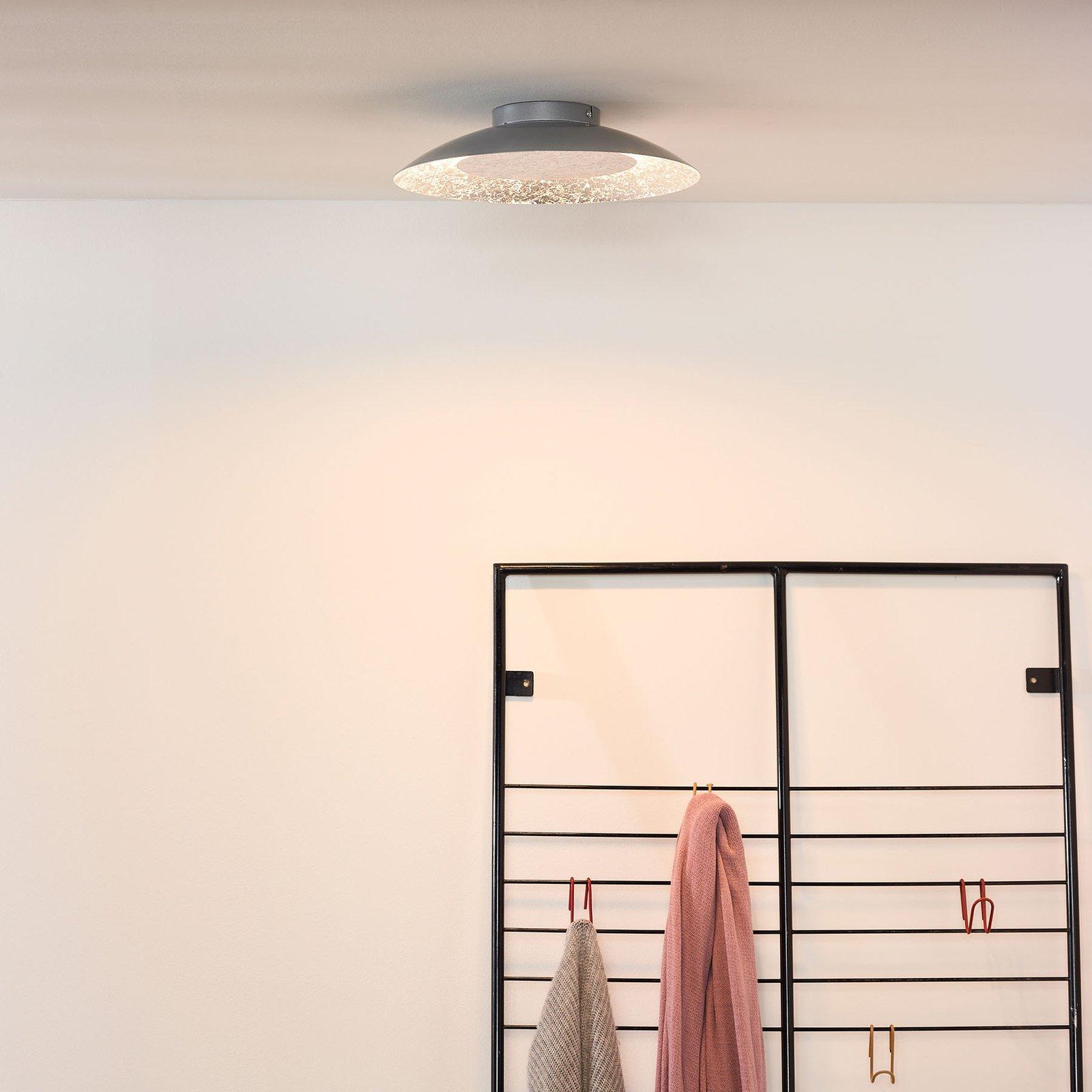 Foskal LED-taklampe sølv, Ø 34,5 cm