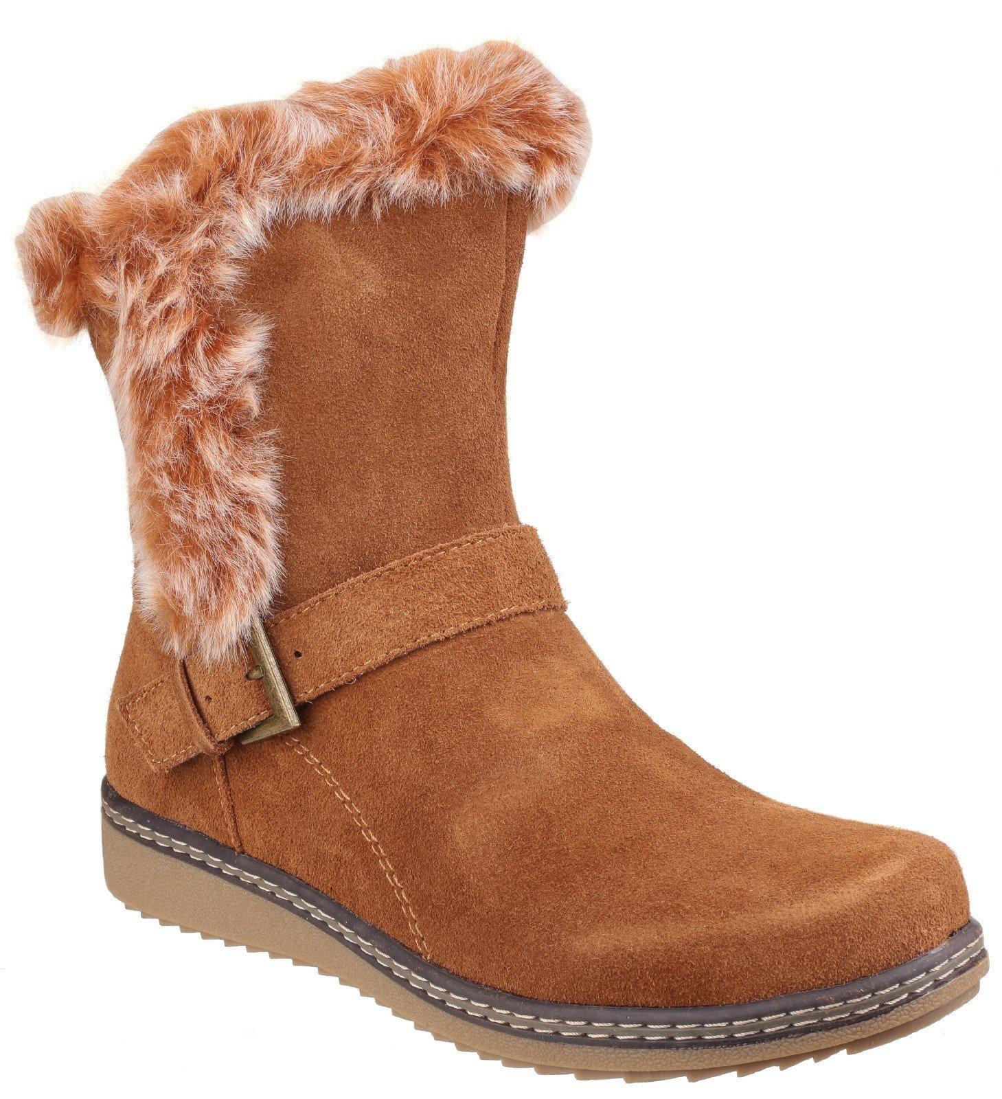 Fleet & Foster Women's Budapest Winter Boot Black 24249-39965 - Tan 3