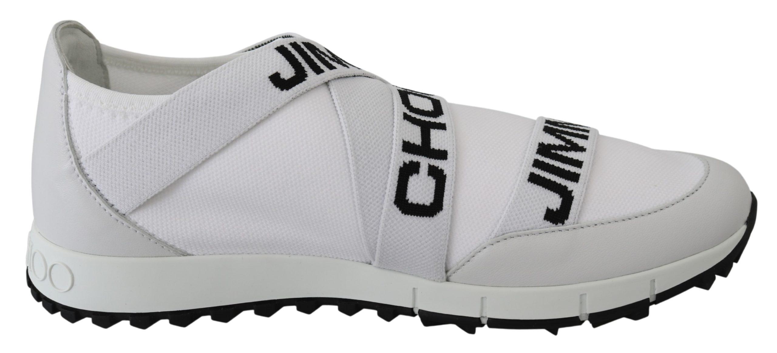 Jimmy Choo Women's Toronto Sneakers White/Black 191714815391 - EU39/US9