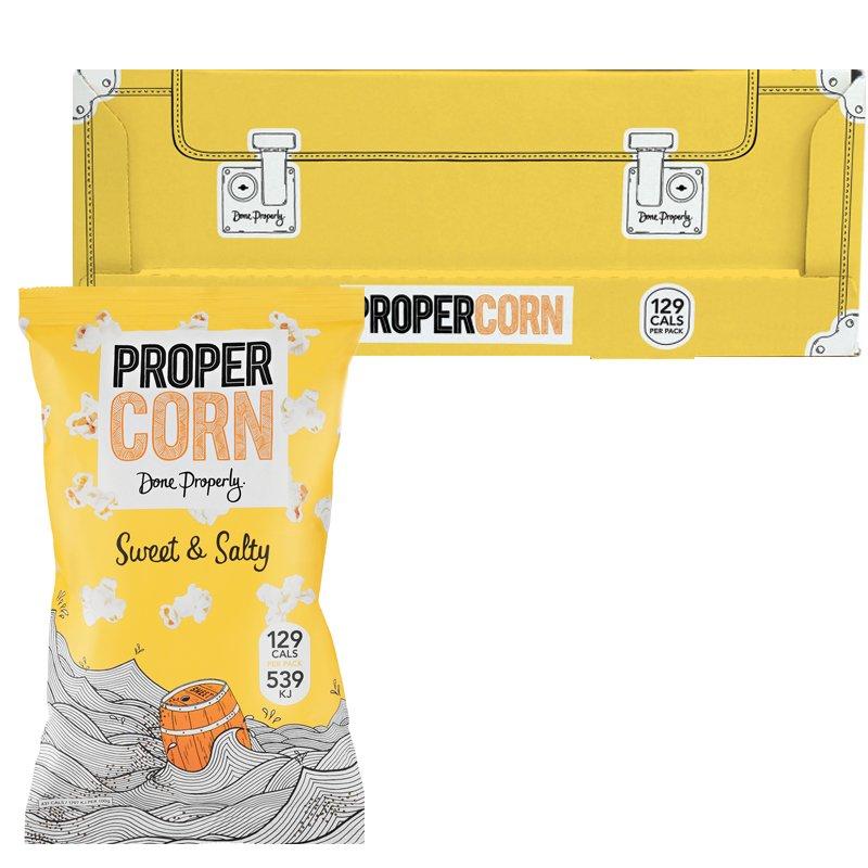 """Laatikollinen Popcornia """"Sweet & Salty"""" 12 x 90 g - 71% alennus"""
