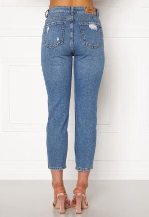 ONLY Emily HW Crop Jeans Medium Blue Denim 29/30