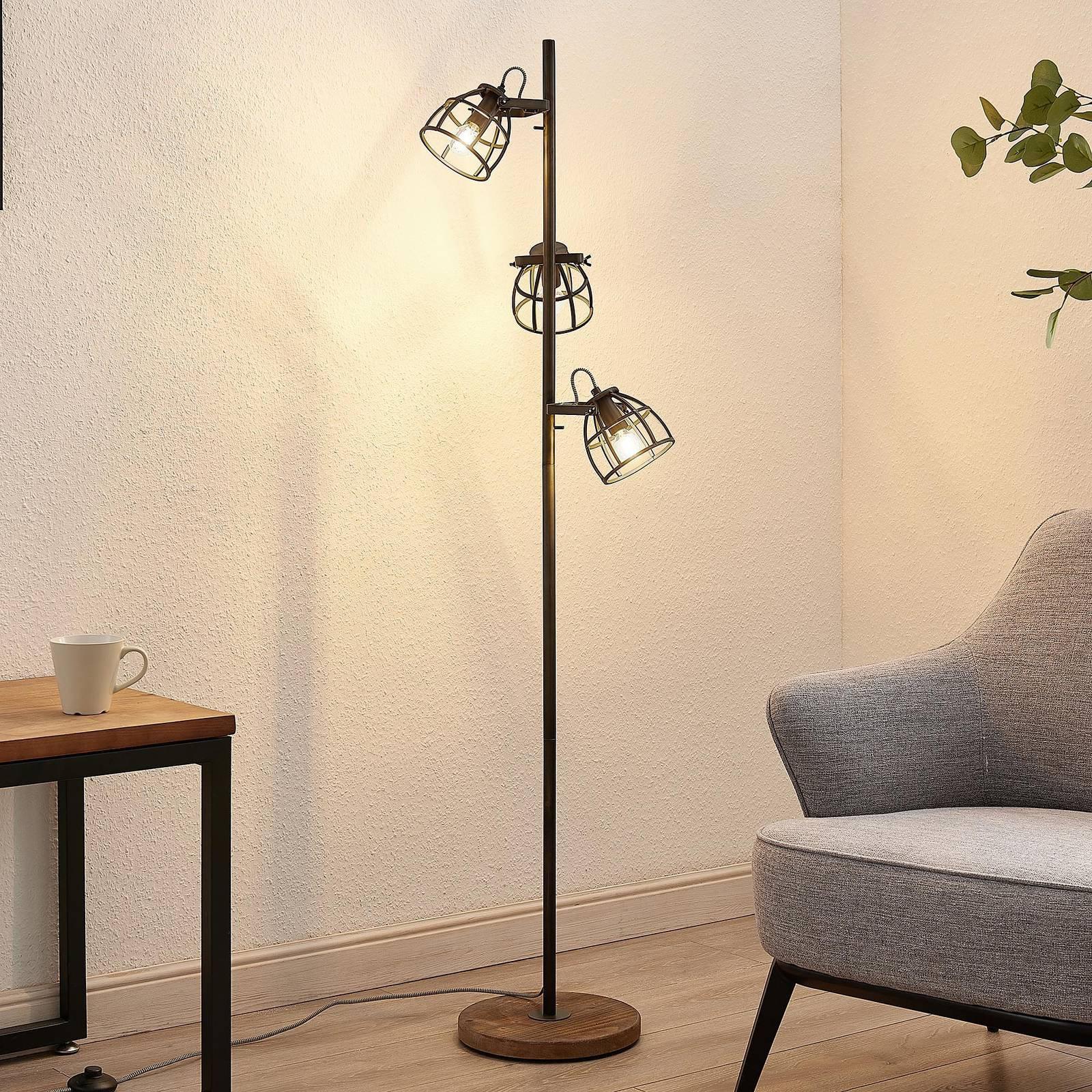 Lindby Rutger gulvlampe, 3 lyskilder