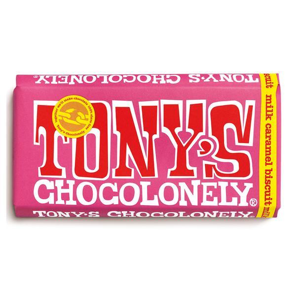 Tony's Milk Caramel Biscuit 32% Chocolate Bar
