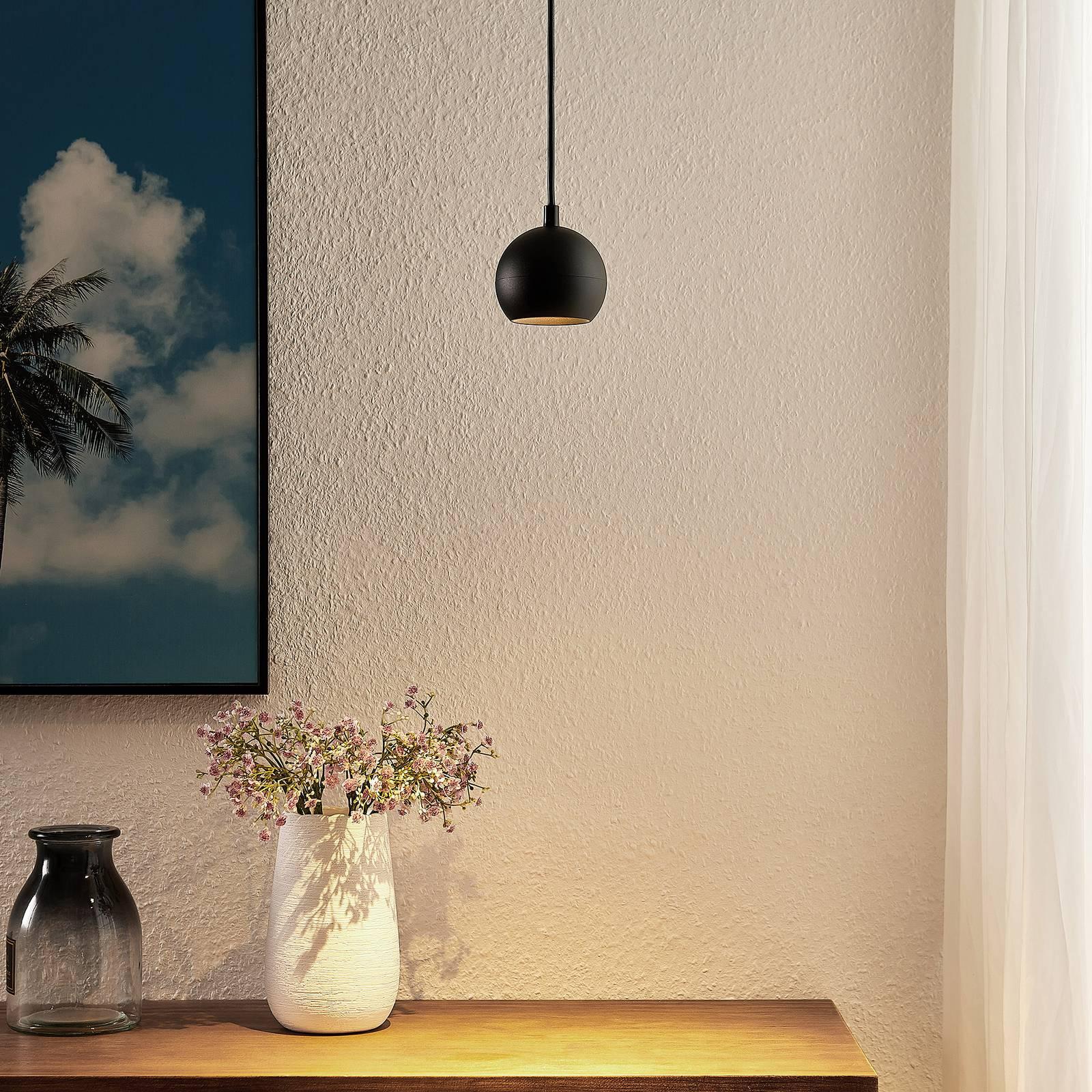 Arcchio Renko -riippuvalaisin 1-lamppuinen musta