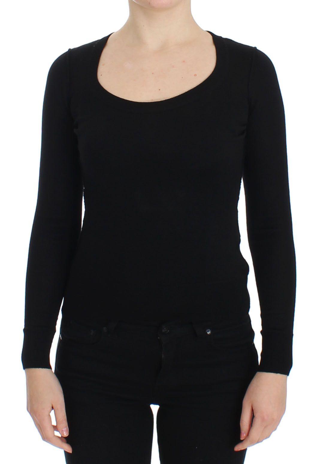 Dolce & Gabbana Women's Wool Crewneck Pullover Sweater Black SIG13361 - IT38|XS