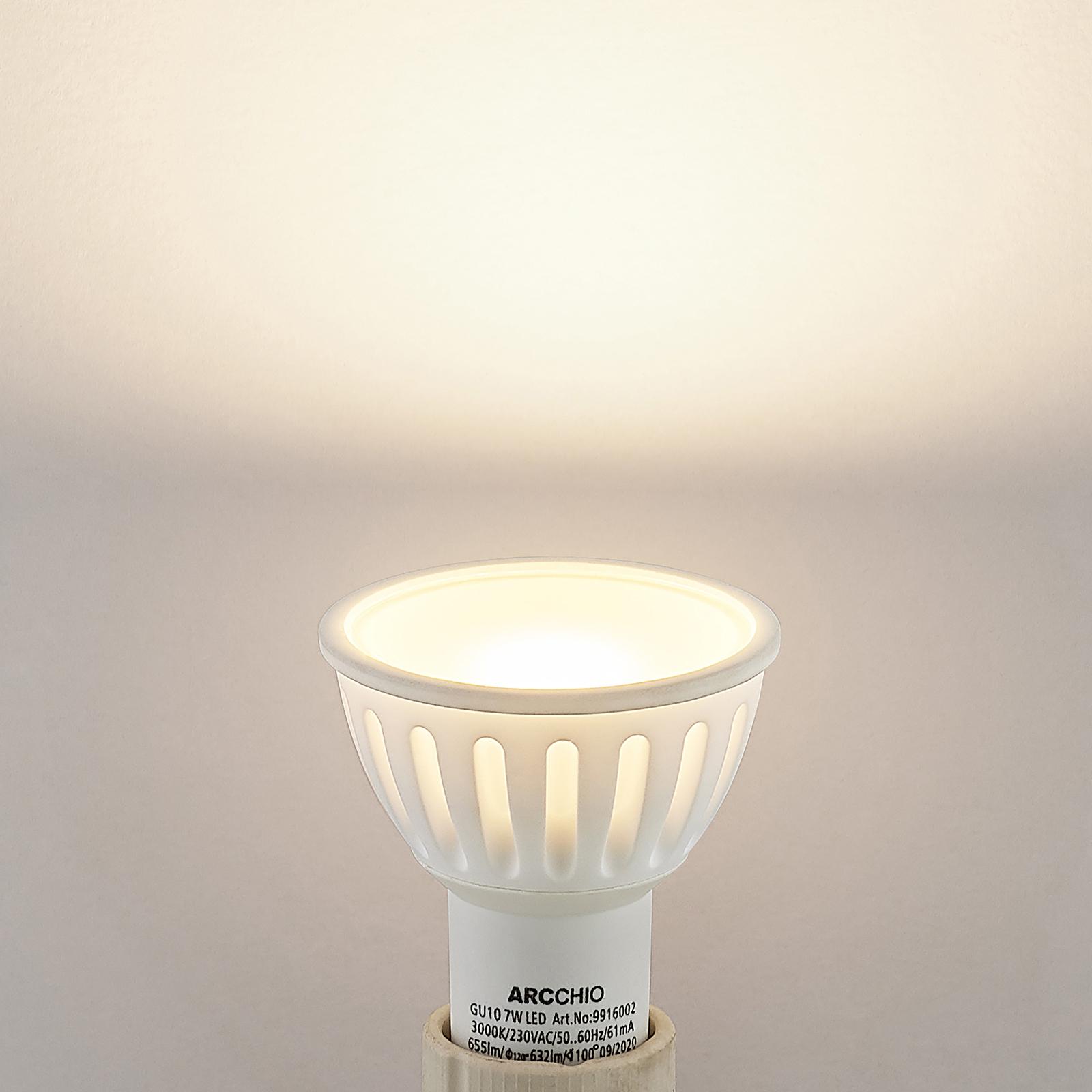 Arcchio-LED-heljastinlamppu GU10 100° 7W 3 000 K
