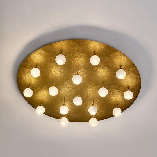 Pyöreä design-LED-kattovalaisin Lucente 16-lamp.