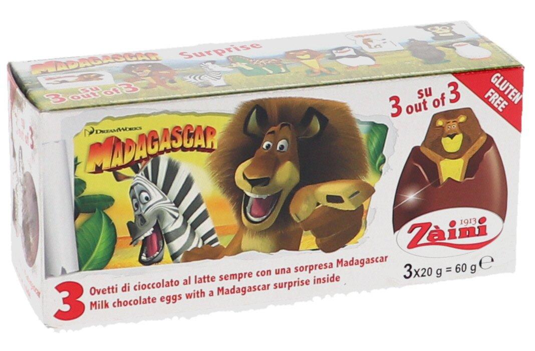 Godisägg Madagascar 3-pack - 16% rabatt