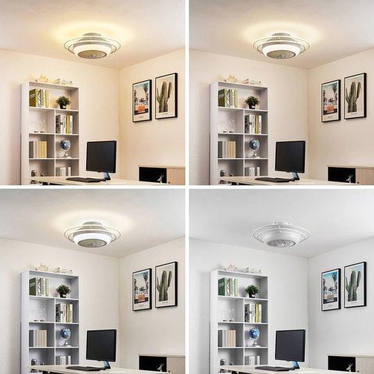 Lindby Ilvie -LED-kattotuuletin valkoinen