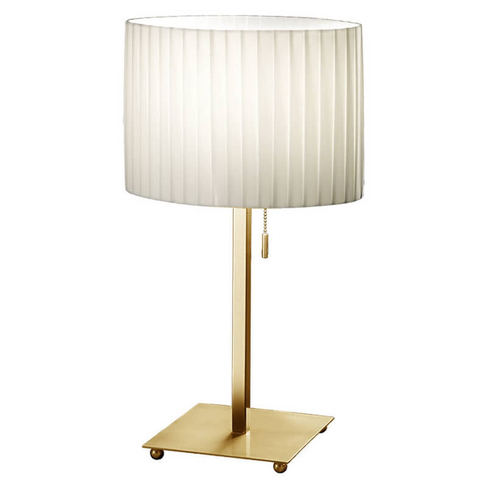 KOLARZ Sand - bordlampe med plissé-skjerm