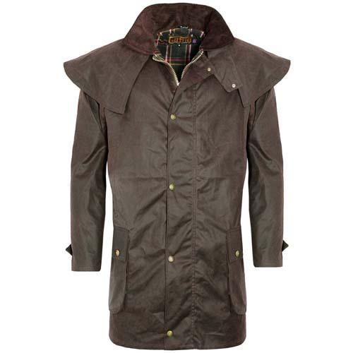 Game Technical Apparel Unisex Jacket Various Colours Wax Coat - Brown S