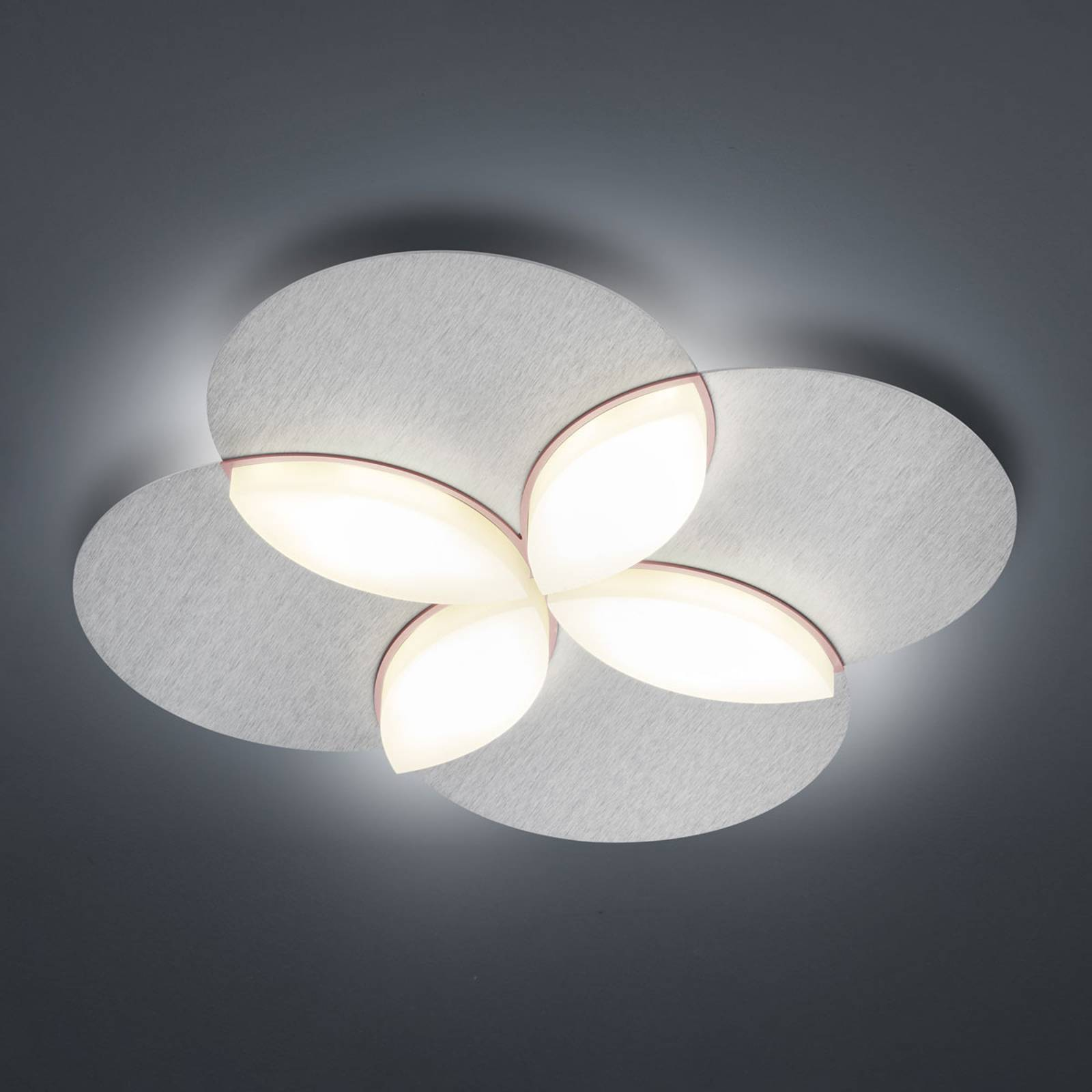 BANKAMP Spring -LED-kattovalaisin, eloksoitu hopea