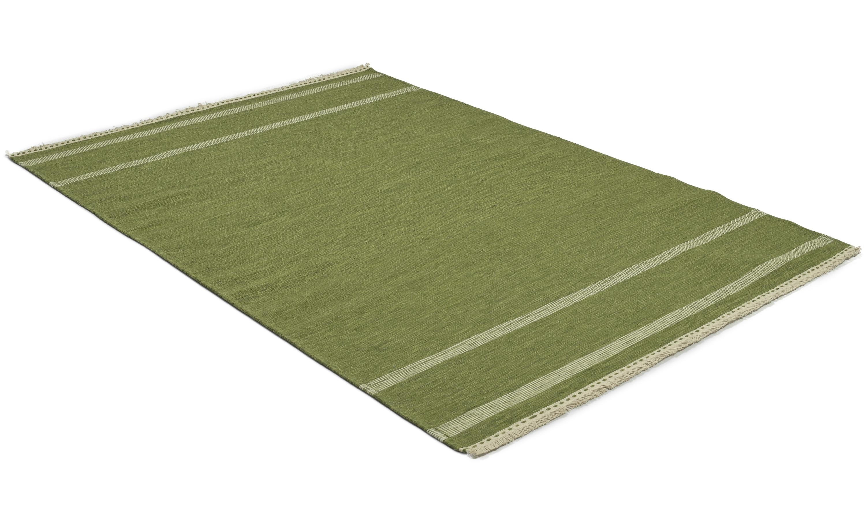 Grinda grønn - håndvevd ullteppe