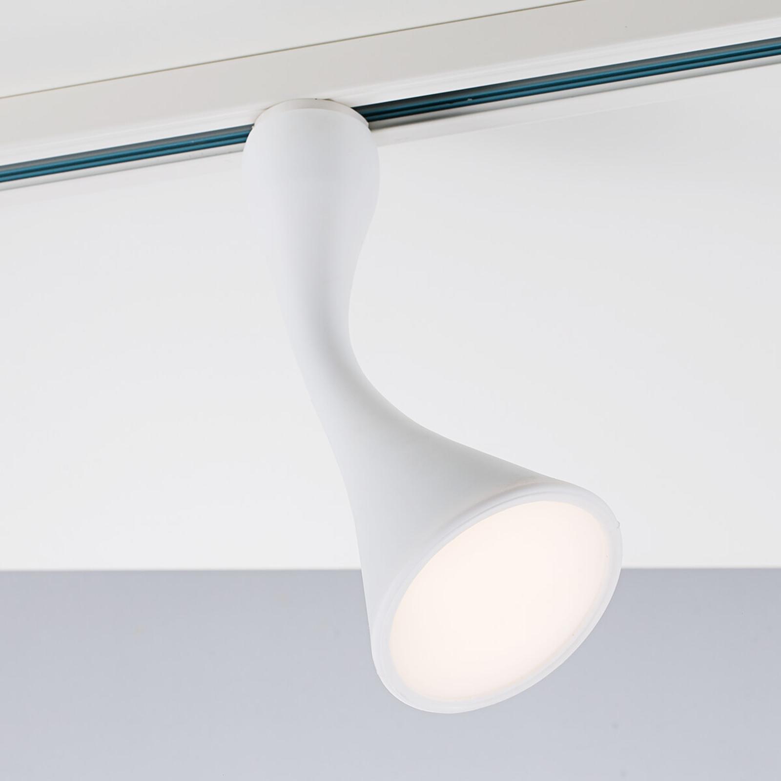 Trendikäs LED-kohdevalo Bendy Link-1-vaihekiskoon